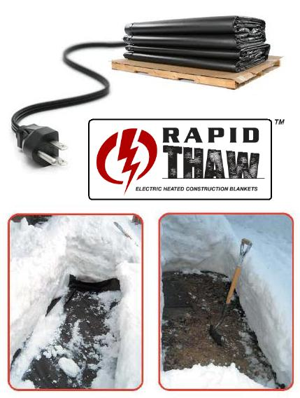 heated ground thawing mats